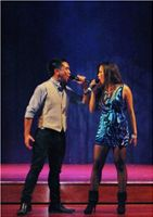 Duet with Carlo singing  'Time of my life' by Black eyed peas (version)