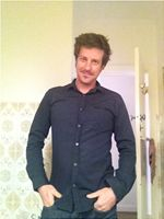 male evening attire, black shirt Apr12