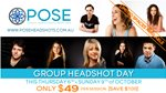 Group Headshot Day this Thursday 6th and Sunday 9th