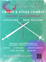 Are You Ready For Combat; Stage Combat! January 2017 Intensive Training